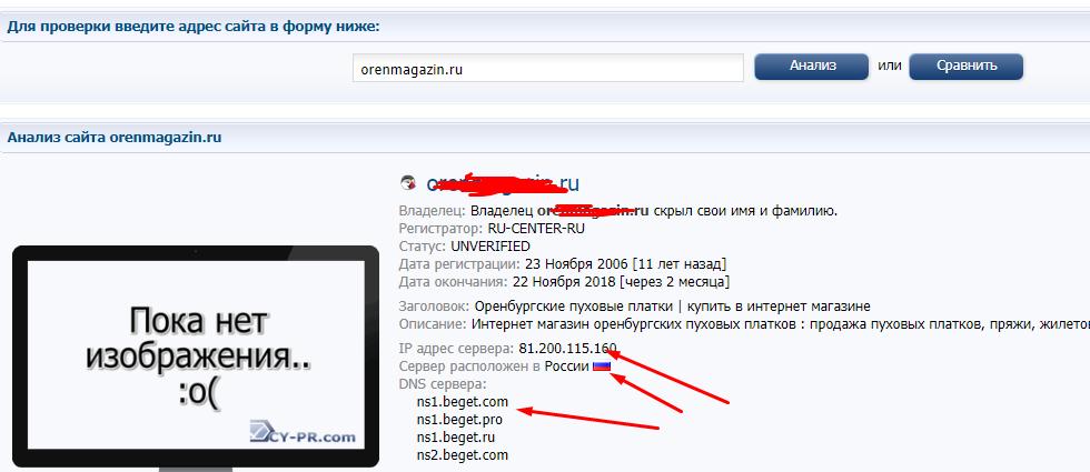 Как пробить сайт по адресу